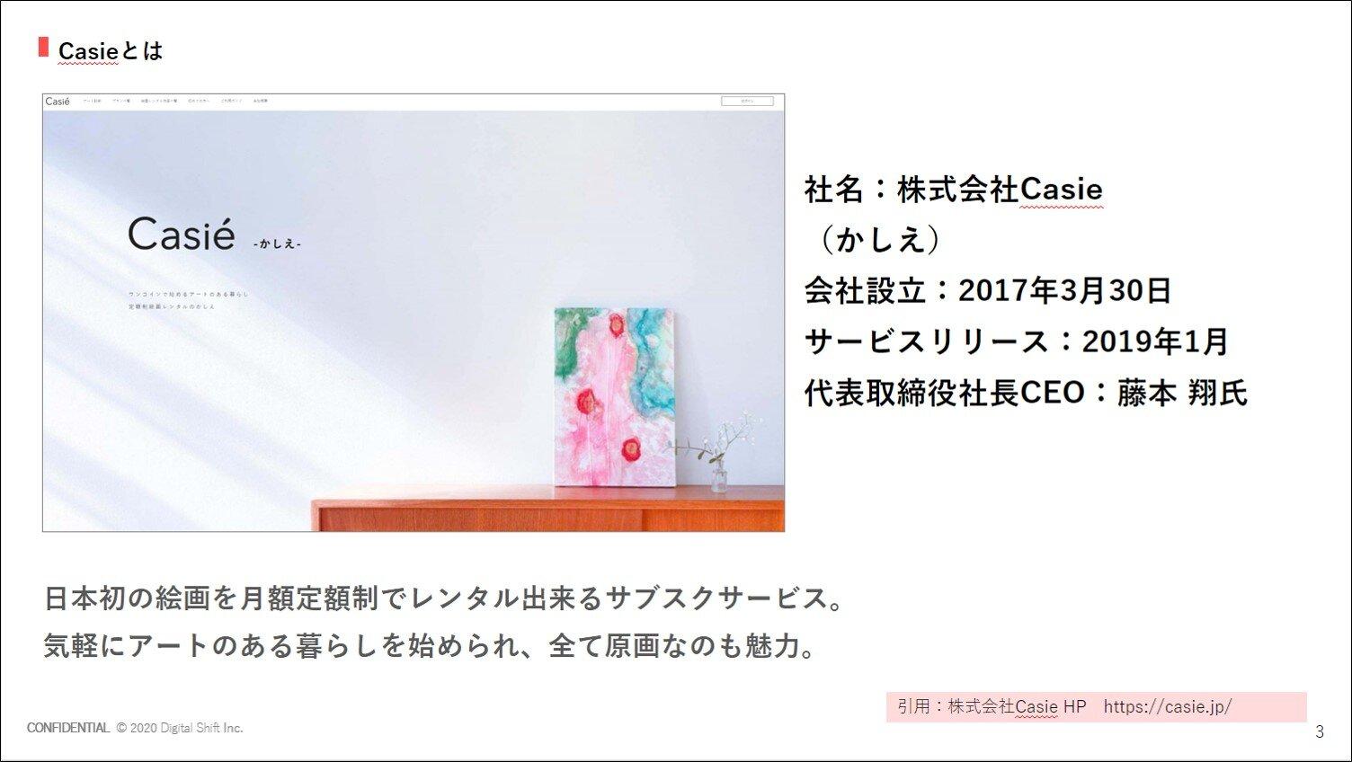 【事例】定額制絵画レンタルのサブスクリプション「Casie(かしえ)」