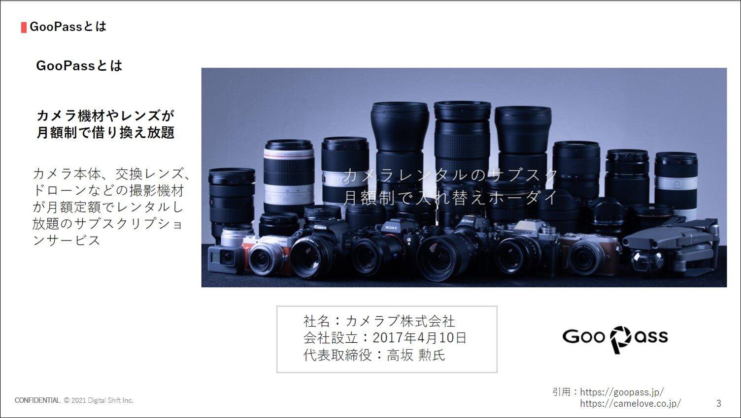 【事例】カメラ機材やレンズのサブスクリプション「GooPass」