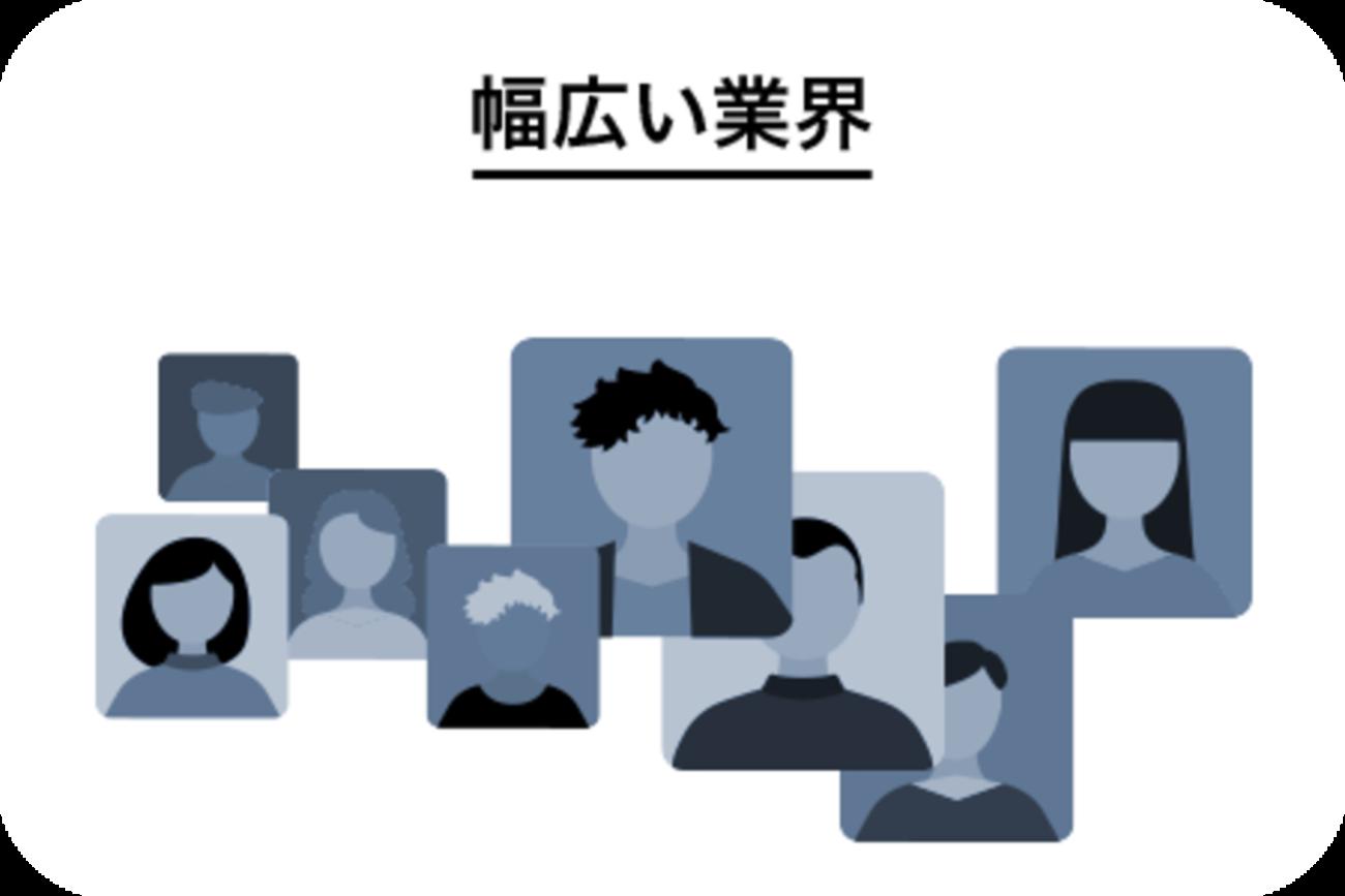 <center>主な業界</center>